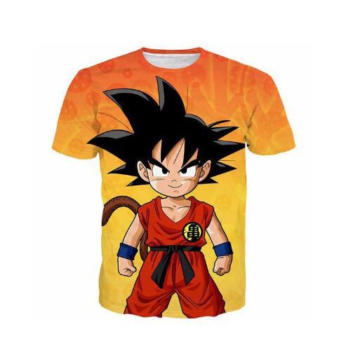 Camisetas 3D Manga Corta hombres/mujeres Anime Dragon Ball Z